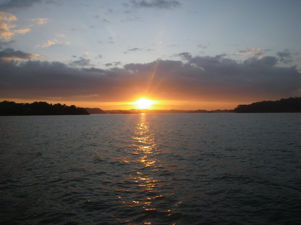 Sunrise on Lake Gatun