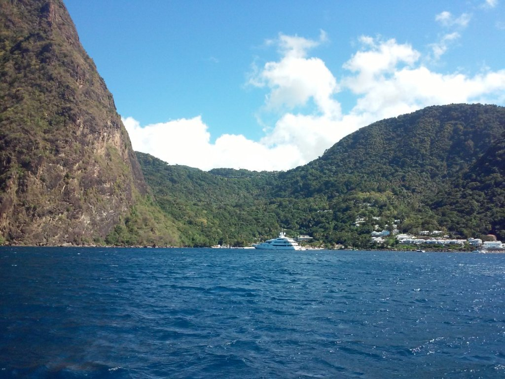 in between the pitons