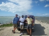 Come to the Bahamas, ride around in salt flats