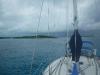 Slick in a happy anchorage.